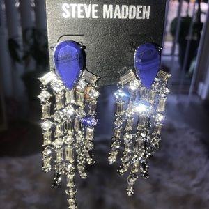 Steve Madden Blue Diamond Dangle earrings